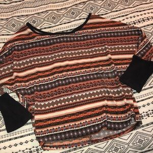 Tops - Aztec shirt size small